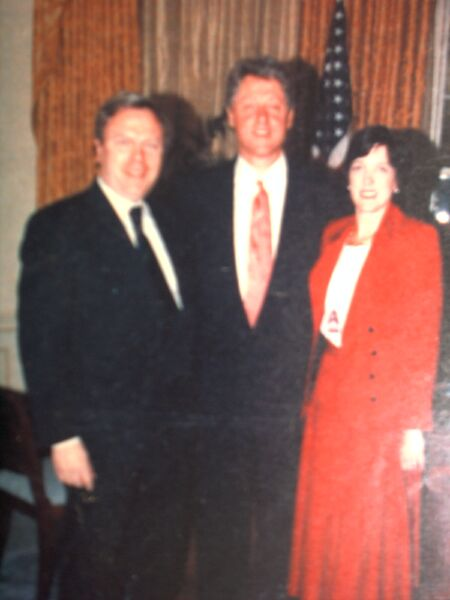 Löwe und Bill Clinton im White House